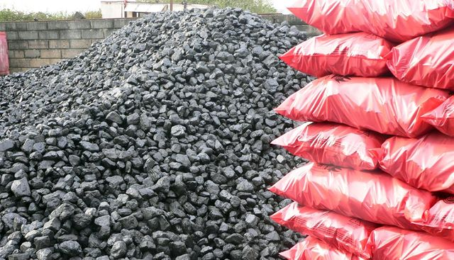 chunks of coal and coal scaks