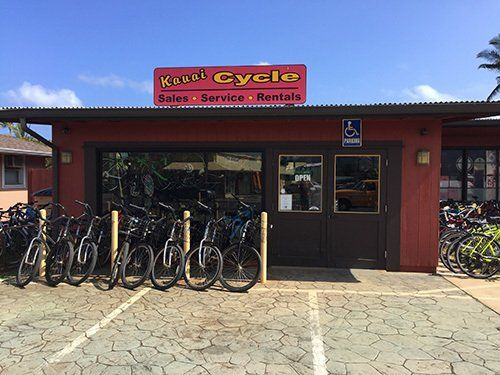 Professional bike rental ship in Kapaa