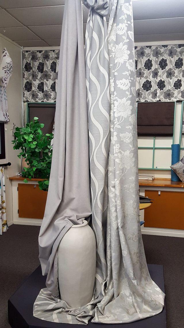 Dark brown drape curtain