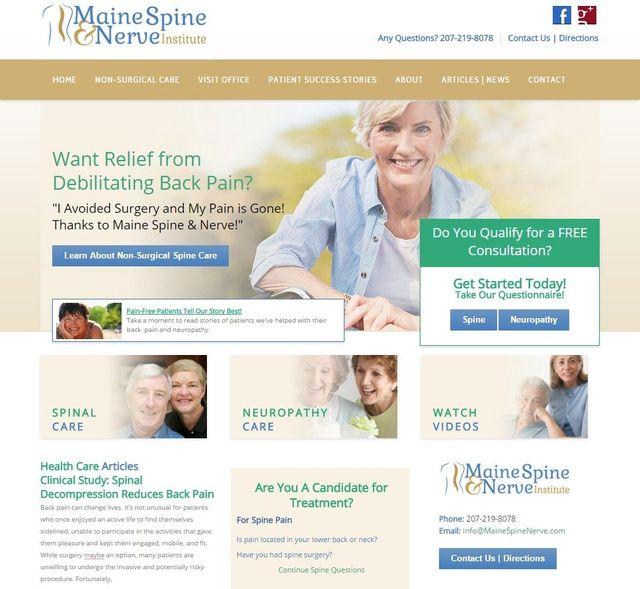 Back Pain Medical Practice Branding & Website Design | MDMark360