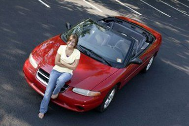 Woman is satisfied with the driving school in Marshfield, WI