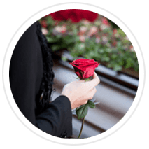 rose for a funeral