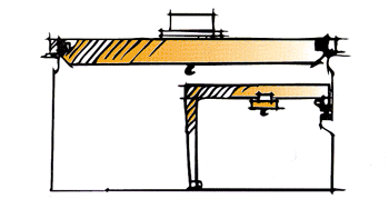 Double girder electric crane and single girder semi-goliath