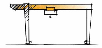 Single girder goliath with cantilever
