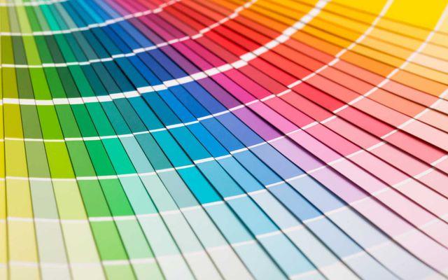 esempi di vernice colorata