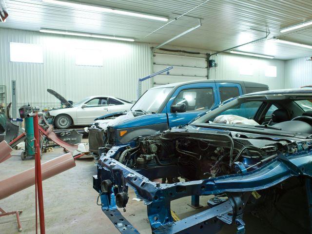 Blenheim vehicle in car repairs