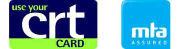 CRT card and mta logos