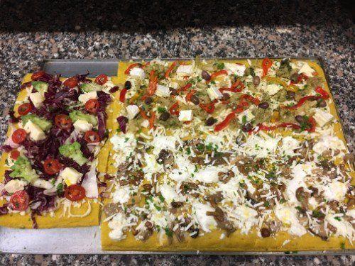 pizza vegetariana a lievitazione naturale