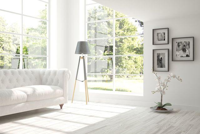 soggiorno moderno ed elegante color bianco