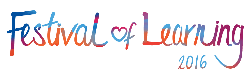 Explore lifelong learning 2016 Festival of Learning logo adult education
