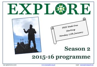 Explore lifelong learning Season 2 2015-16 adult education