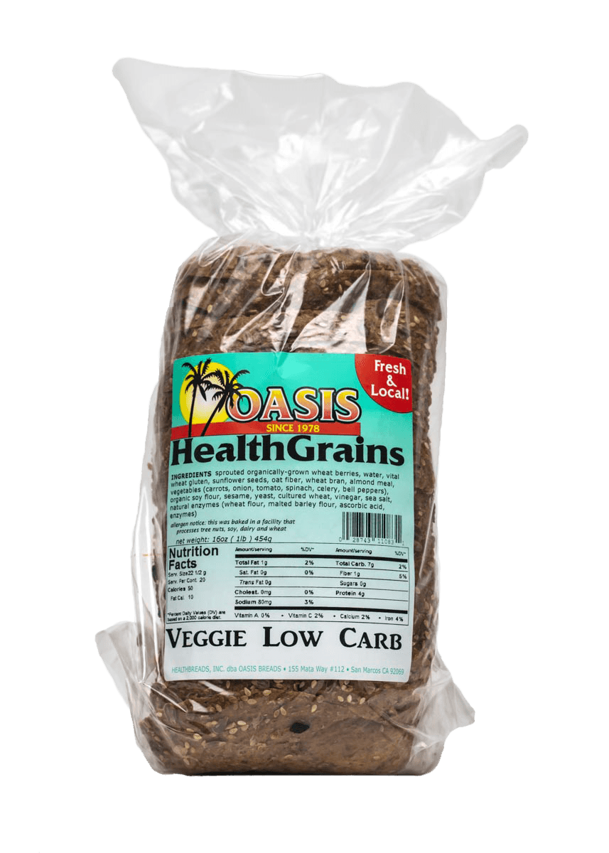 oasis health grain veggie bread