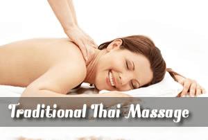 Back massage in progress