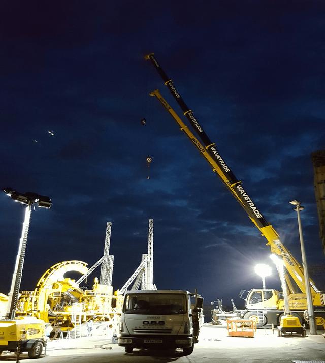 crane at site