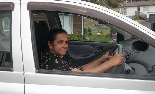 woman learning to drive in Auckland
