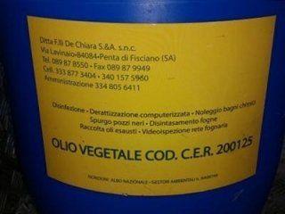 Smaltimento olii