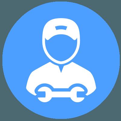 icona operaio con chiave inglese