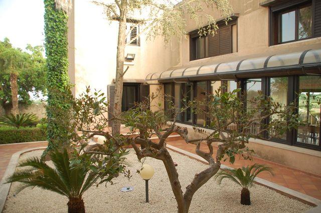 vista dall'esterno della Villa Azzurra