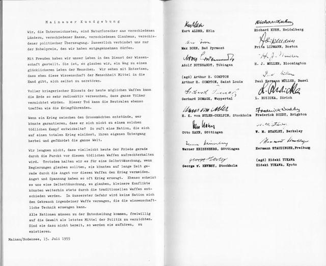 Mainau Declaration 1955