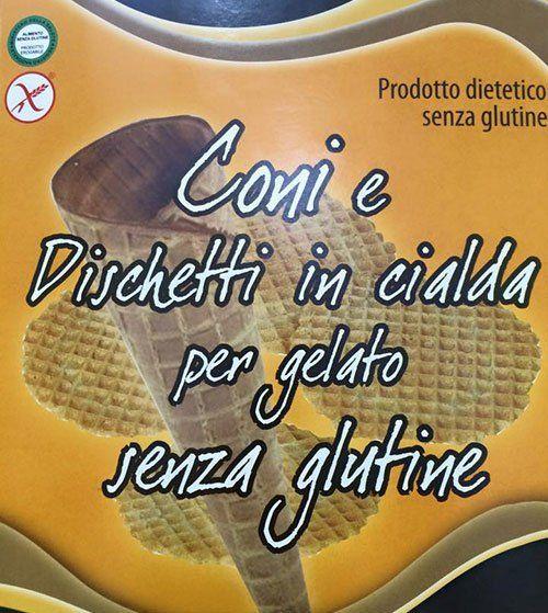 Coni per celiaci alla gelateria in Napoli