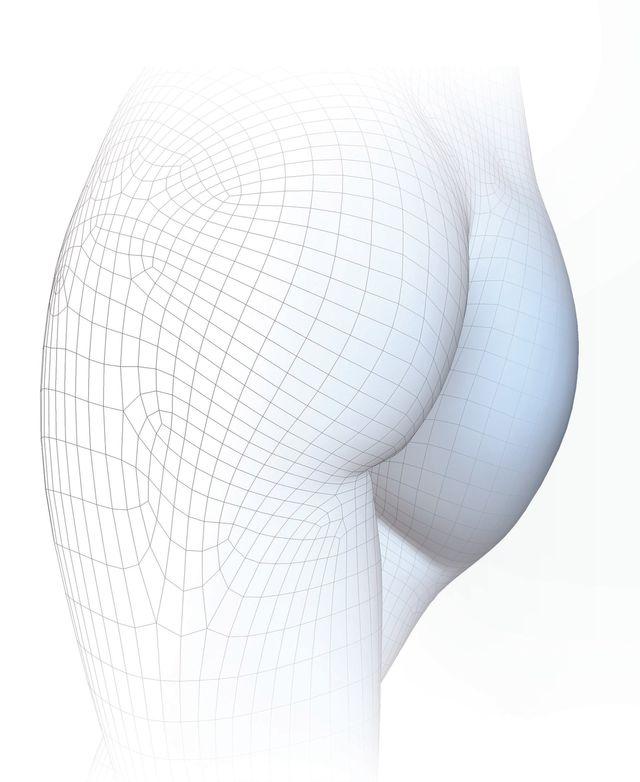 Grafik Po und Oberschenkel mit Zellstruktur