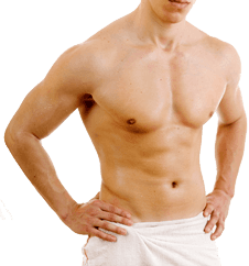 Man after corrective liposuction treatment in central Munich