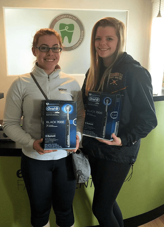 Winners of Edwardsville Family Dentist tooth brush