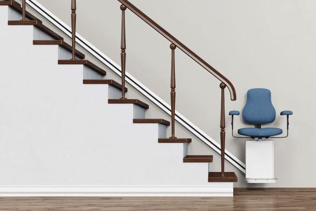 vista laterale di una scalinata