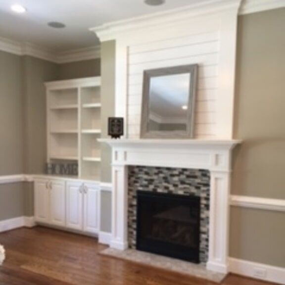 Living Room With Mirror Flooring Services In Greenville Nc