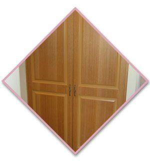 wood hinged closet door