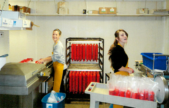 Johnson, NE's butcher meats team at work