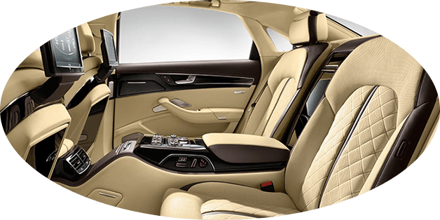 sophisticated interior of Audi 8L Chauffeur services