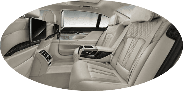 fashionable interior of chauffeured travel BMW 7 Series