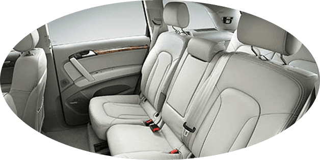 graceful interior of chauffeured Audi Q7 people movers