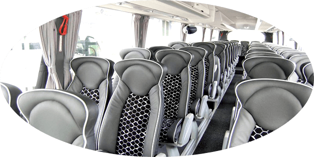 trendy interior of sportsteam chauffeured Irizar i6 Coach