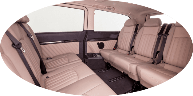 classy interior of Mercedes-Benz Viano chauffeur for celebrities