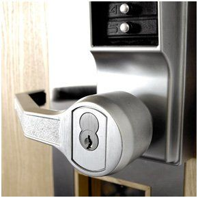 Key coded door lock