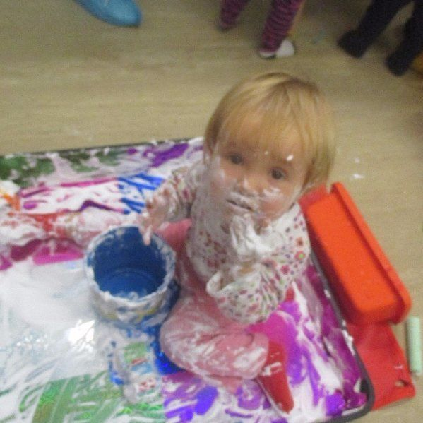 child getting all messy