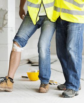 Leg injury at work