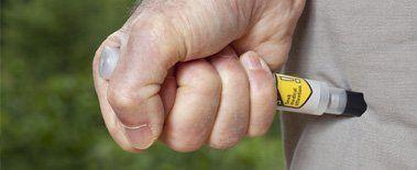 EpiPen in leg
