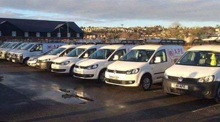 Our fleet of vans