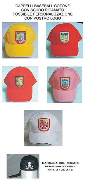 cappellini di diversi colori personalizzabili