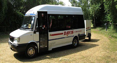 white bus for airport transfer