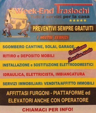 il volantino di Week-End Traslochi