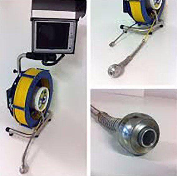 gli attrezzi per videoispezioni di camini