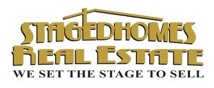 staged homes real estate logo