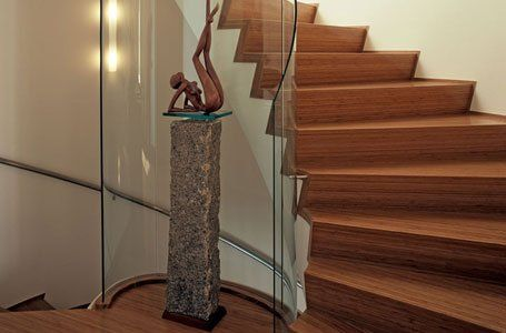 wooden flooring and staircase