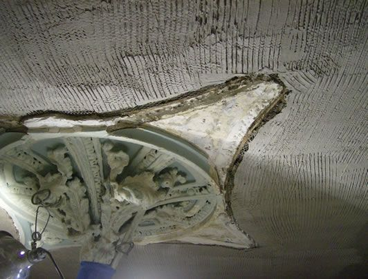 plastering services work on ceiling in Butlerville, IN