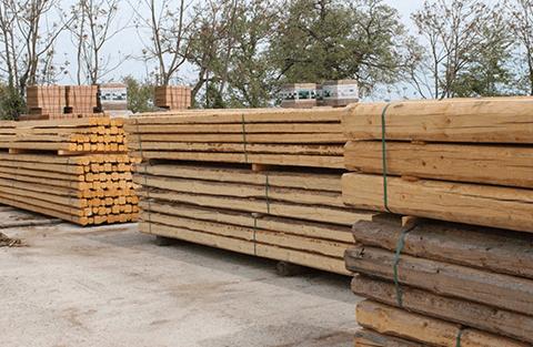 delle travi in legno