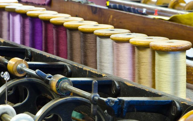 A picture of the fabric manufacturing process in Australia